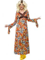 Robe longue Hippie femme 70's