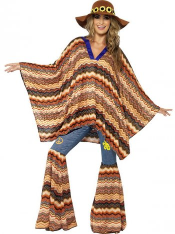Poncho hippie 70 s