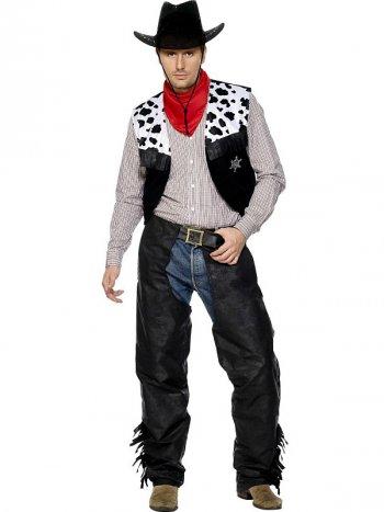 Déguisement de Cowboy Noir et Blanc