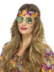 Lunette Hippie Miroir Vert/Bleu