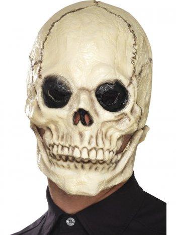 Masque Crâne Squelette Mâchoire mobile - Latex