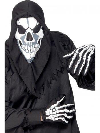 Kit Squelette - Cagoule masque + gants