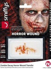 Prothèse Transfert Joue de Zombie en Décomposition (avec dents)
