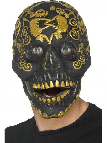 Masque Crâne Calavera Mâchoire mobile - Latex