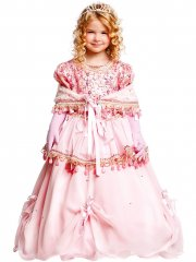 Déguisement Princesse Prestige Rose Luxe
