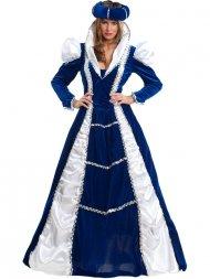 Déguisement de Princesse Renaissance Bleu Luxe