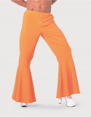 Pantalon Disco Maxi Patte d Eph  Homme Orange
