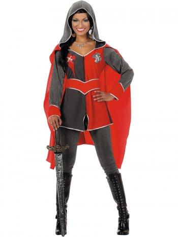 Déguisement Chevalier Femme Rouge Luxe
