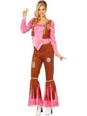Déguisement Hippie Folk Jaune