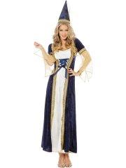 Déguisement Princesse Médiévale Bleu et Or