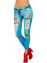 Legging Jeans Hippie Taille XS-S