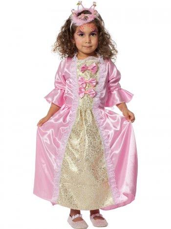 Déguisement Princesse Satin Rose et or