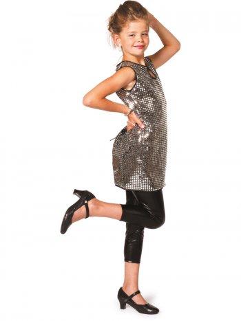 Robe Paillettes Disco Argent Enfant