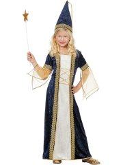 Déguisement Princesse Médiévale Fée Bleu et Or