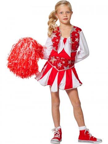 Déguisement Majorette Cheerleader Rouge
