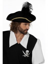 Chapeau Pirate Double Plume