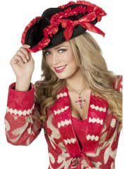 Set Chapeau Pirate Velours + Cache-oeil