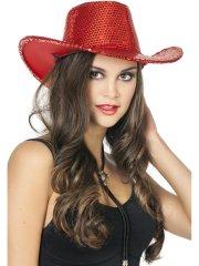 Chapeau Cowboy Disco Rouge