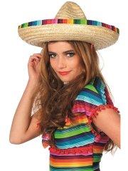 Chapeau Sombrero Rayures Mexique (43 cm)
