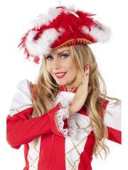 Chapeau Tricorne Charme Rouge et Blanc