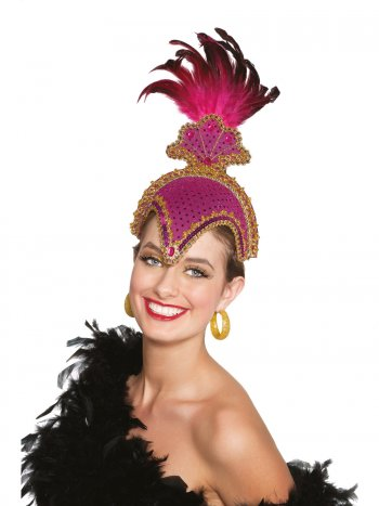 Coiffe Carnaval Caraïbes Rose