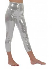 Leggings Paillette Argent