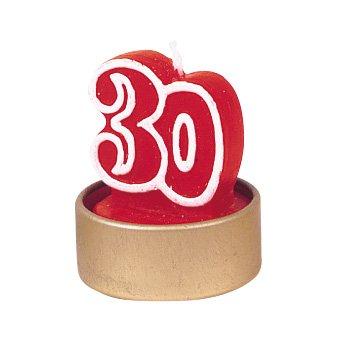 """5 bougies âge """"30"""""""