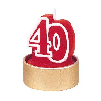 """5 bougies âge """"40"""""""