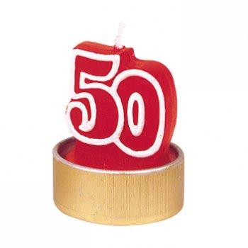"""5 bougies âge """"50"""""""