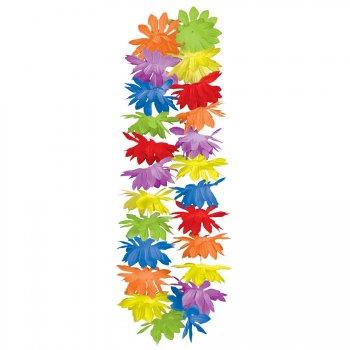 25 Colliers de fleurs multicolores