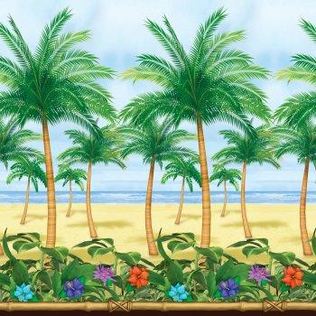 Décor mural Plage avec palmiers