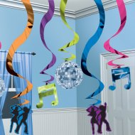 15 guirlandes verticales Disco party