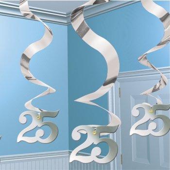 """5 guirlandes à suspendre """"25"""" ans"""