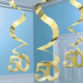 """5 guirlandes à suspendre  """"50"""" ans"""