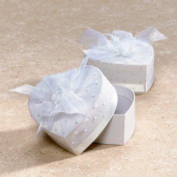 Boîte coeur blanche