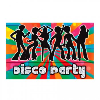 8 invitations Disco party