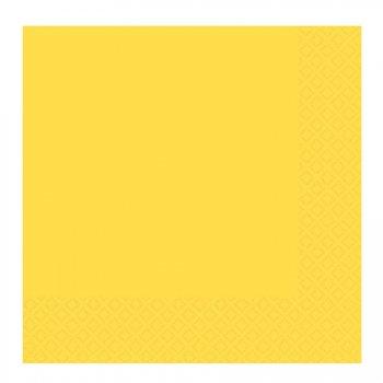 20 serviettes jaune