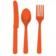 Set de 24 Couverts Orange