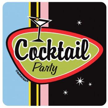 """8 sous-verres """"Cocktail party"""""""