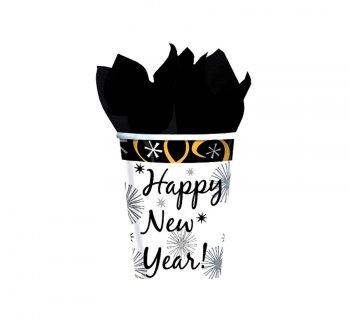 "8 gobelets ""Happy New Year !"""