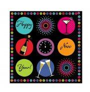 16 serviettes Happy New Year !
