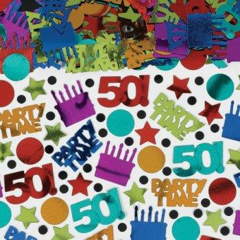 """Confettis Anniversaire """"50 ans!"""""""