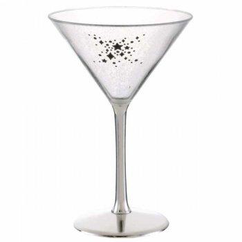 Verre à cocktail en plastique Argent