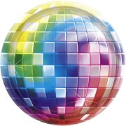 8 Assiettes Disco Fever 70's
