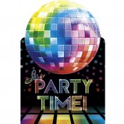 6 Invitations Disco Fever 70's