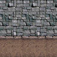 Décor mural donjon pierres, Sol terre battue