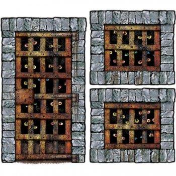 Lot de 3 décors cellules donjon