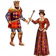 Grand décor carton Roi ou Reine