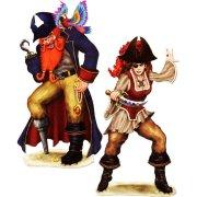 Set de 2 grands decors Pirates