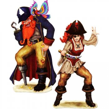 Set de 2 grands decors Pirates
